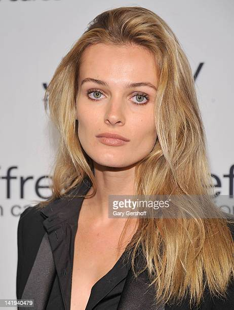 Model Edita Vilkeviciute attends the Jeffrey Fashion Cares 2012 at the Intrepid Aircraft Carrier on March 26 2012 in New York City