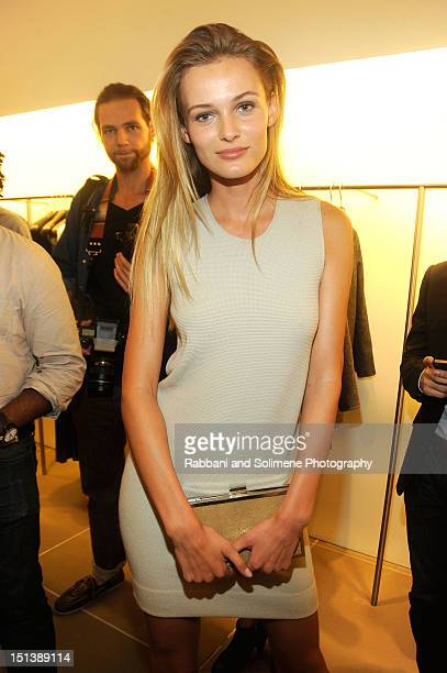 Model Edita Vilkeviciute celebrates Fashion's Night Out at Calvin Klein Boutique on September 6 2012 in New York City
