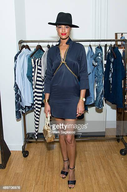 Model Eishia Brightwell attends the Studio 189's Ready to Wear Spring 2016 Presentation at the Lower Eastside Girls Club on September 14 2015 in New...