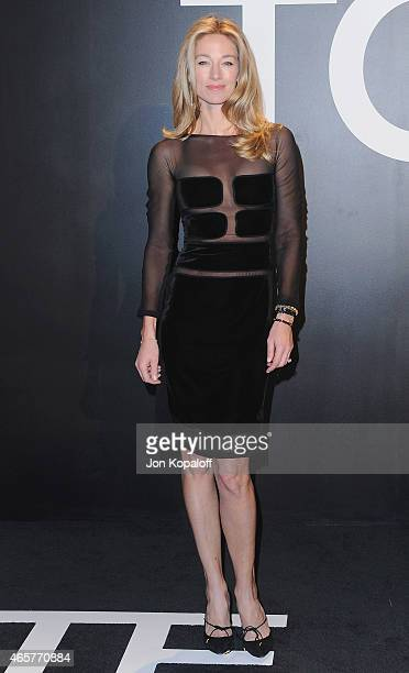 Model Elaine Irwin arrives at Tom Ford Autumn/Winter 2015 Womenswear Collection Presentation at Milk Studios on February 20 2015 in Los Angeles...