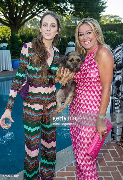 Model Eleanor Lambert and Marigay McKee attend Armarium's Missoni Launch With Ottavio Missoni at the home of Marigay McKee and Bill Ford on July 23...