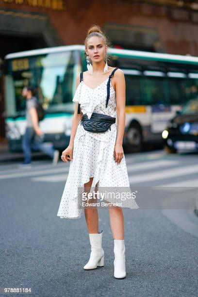 Model Elena Carriere attends the HM Flaship Opening Party as part of Paris Fashion Week on June 19 2018 in Paris France