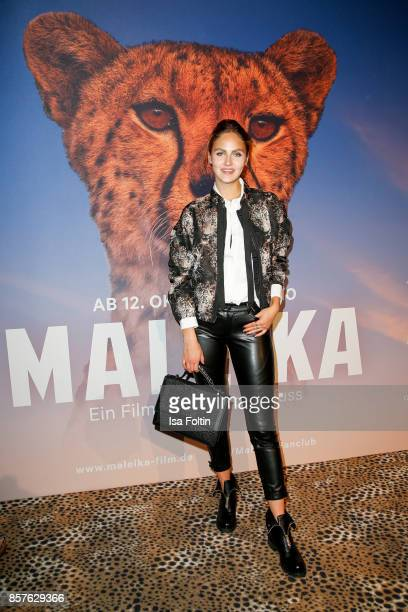 Model Elena Carriere attends the 'Maleika' Film Premiere at Zoo Palast on October 4 2017 in Berlin Germany