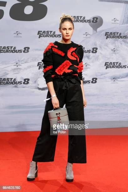 Model Elena Carriere attends the premiere for the film 'Fast Furious 8' at Sony Centre on April 4 2017 in Berlin Germany