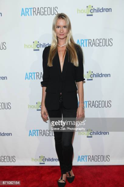 Model Elena Kurnosova attends 2017 ARTrageous Gala Dinner at Cipriani 25 Broadway on November 6 2017 in New York City