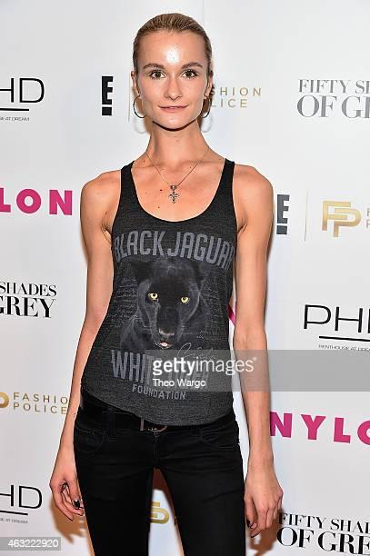Model Elena Kurnosova attends E Fashion Police and NYLON kickoff New York Fashion Week with a 50 Shades of Fashion event in celebration of the...