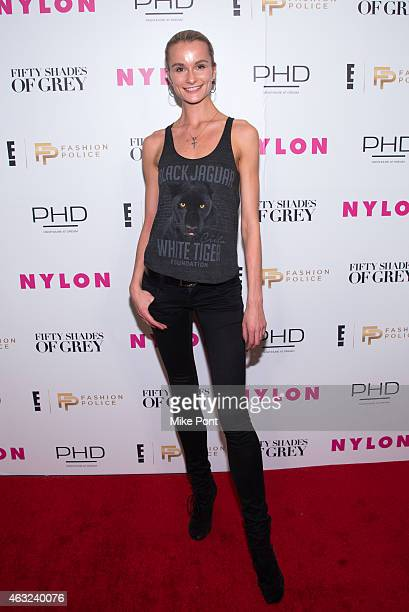 Model Elena Kurnosova attends Nylon and Fashion Police's Fifty Shades Of Grey Release Party at Dream Downtown on February 11 2015 in New York City