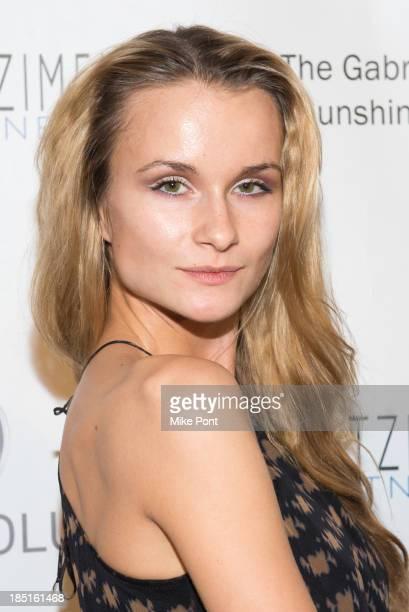 Model Elena Kurnosova attends Resolve 2013 fundraising gala at The Harvard Club on October 17 2013 in New York City