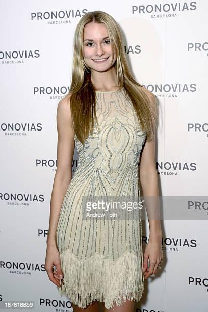 Model Elena Kurnosova attends the Atelier Pronovias 2014 Show hosted by Petra Nemcova at St James Church on November 12 2013 in New York City