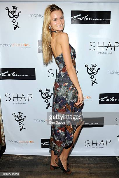 Model Elena Kurnosova attends The Box And Paper Magazine Presents Coleman's Single Release Party at The Box on September 10 2013 in New York City