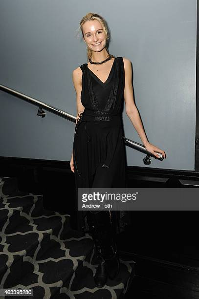 Model Elena Kurnosova attends The Daily Front Row's 2015 Model Issue reception during MercedesBenz Fashion Week Fall 2015 at Beautique on February 13...