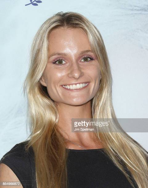 Model Elena Kurnosova attends the New York premiere of Our Souls at Night hosted by Netflix at The Museum of Modern Art on September 27 2017 in New...