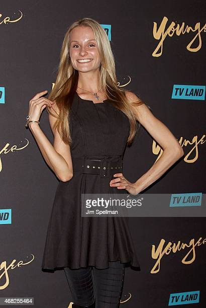 Model Elena Kurnosova attends the premiere of TV Land's Younger at Landmark's Sunshine Cinema on March 31 2015 in New York City