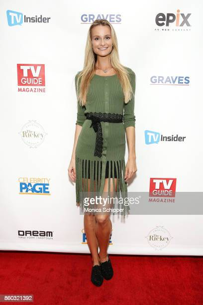 Model Elena Kurnosova attends the TV Guide Magazine event celebrating cover star Sela Ward and her show Graves at The Rickey at Dream Midtown on...