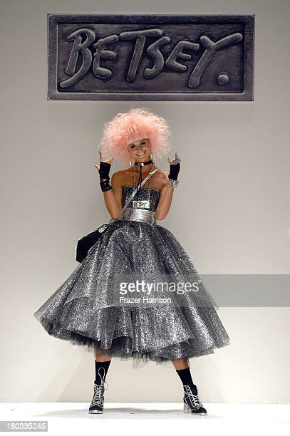 Model Elena Kurnosova walks the runway at the Betsey Johnson fashion show during MercedesBenz Fashion Week Spring 2014 on September 11 2013 in New...