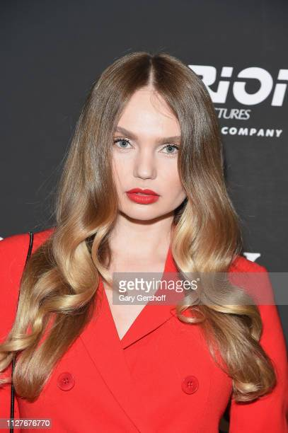 Model Elena Matei attends the New York special screening of 'The Prodigy' at The Landmark at 57 West on February 05 2019 in New York City