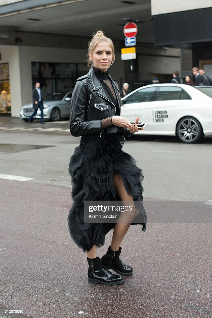 Model Elena Perminova on day 4 during London Fashion Week Autumn/Winter 2016/17 on February 22, 2016 in London, England. (Photo by Kirstin Sinclair/Getty Images)Elena Perminova