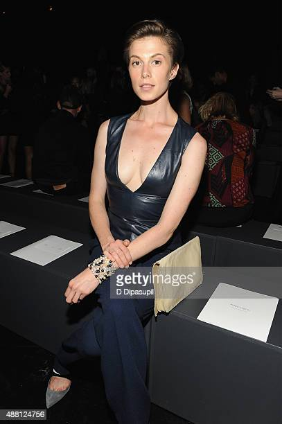 Model Elettra Rossellini Wiedemann attends Prabal Gurung Spring 2016 during New York Fashion Week The Shows at The Arc Skylight at Moynihan Station...