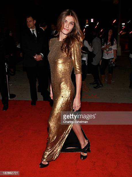 Model Elisa Sednaoui attends the Arthur Christmas premiere at the Clearview Chelsea Cinemas on November 13 2011 in New York City