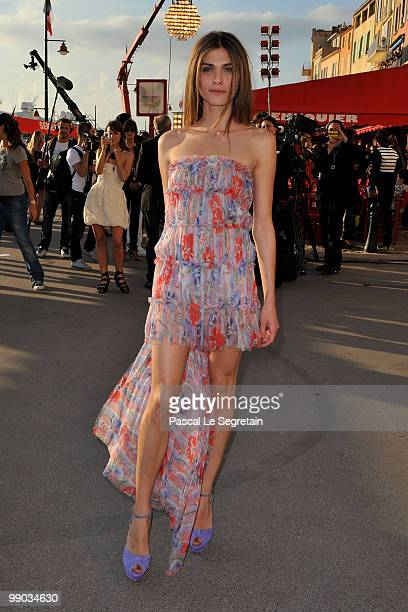 Model Elisa Sednaoui attends the Chanel Cruise Collection Presentation on May 11 2010 in SaintTropez France