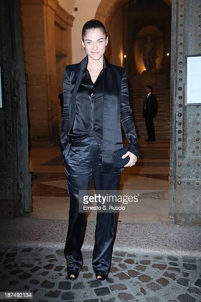 Model Elisa Sednaoui attends the Vanity Fair Dinner during The 8th Rome Film Festival at Villa Medici on November 9 2013 in Rome Italy