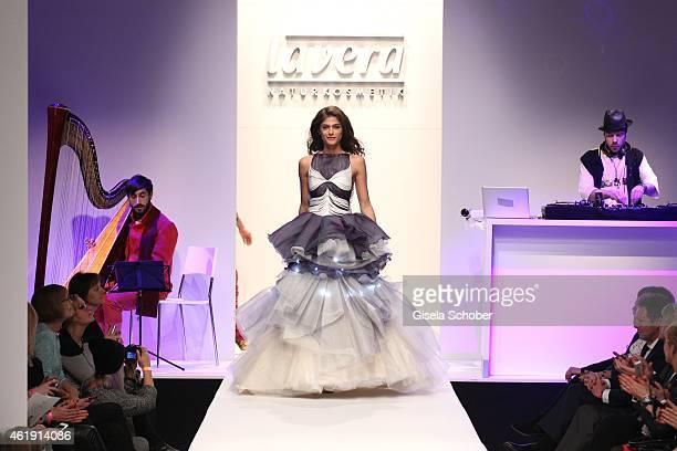 Model Elisa Sednaoui during the Lavera Showfloor at Umspannwerk on January 21 2015 in Berlin Germany