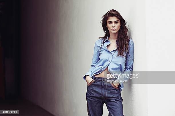 Model Elisa Sednaoui is photographed for Marie Claire Russia on September 19 2014 in Milan Italy