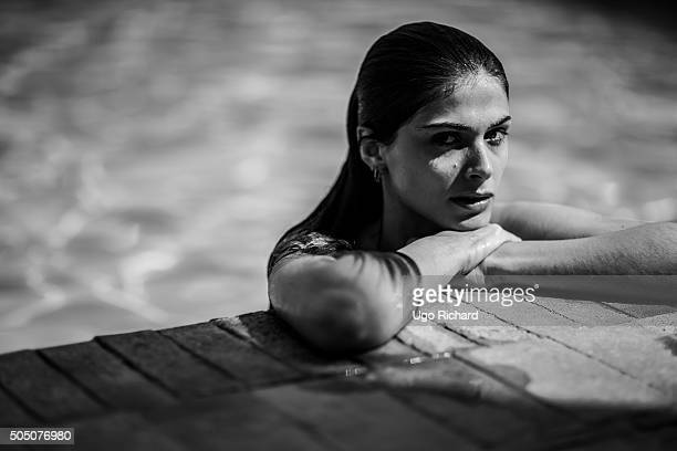 Model Elisa Sednaoui is photographed for Self Assignment on June 3 2014 in Luxor Egypt