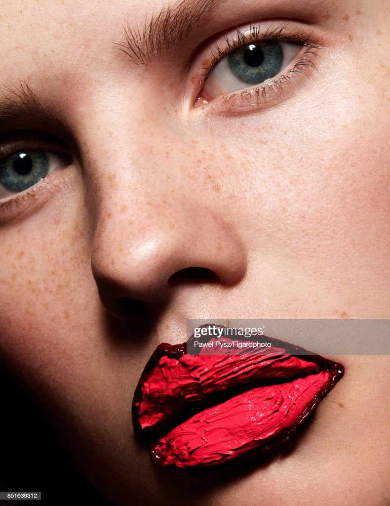 Model Elisabeth Faber poses at a beauty shoot for Madame Figaro on July 20, 2017 in Paris, France. Make-up by Givenchy. PUBLISHED IMAGE.