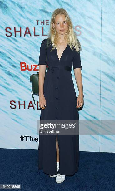 Model Elise Aarnink attends 'The Shallows' world premiere on June 21 2016 in New York City