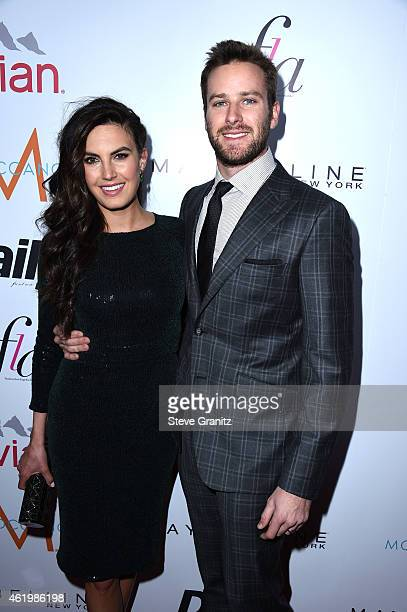 Model Elizabeth Chambers and actor Armie Hammer attend The Daily Front Row's 1st Annual Fashion Los Angeles Awards at Sunset Tower Hotel on January...