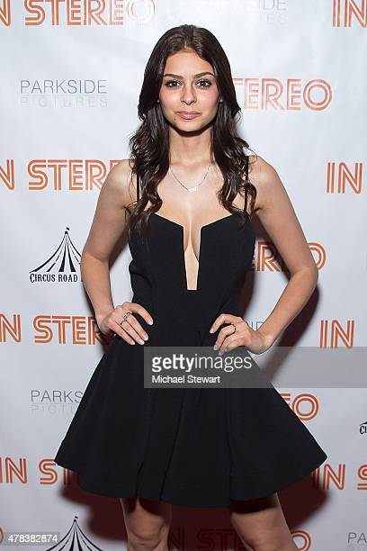 Model Elizabeth Pipko attends the In Stereo New York Premeire at Tribeca Grand Hotel on June 24 2015 in New York City