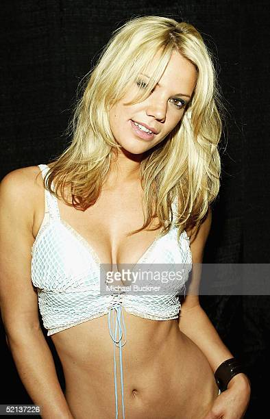 Model Elizabeth Rouffaer attends Anna Benson's birthday bash and Lingerie Bowl Party at Shelter on February 4 2005 in Los Angeles California