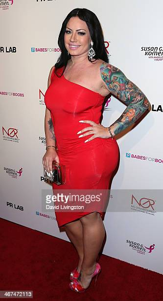 Model Elke The Stallion attends Babes for Boobs a live bachelor auction benefiting the Los Angeles County affiliate of Susan G Komen at the El Rey...