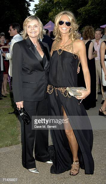 Model Elle Macpherson and her mother attend The Serpentine Gallery Summer Party at the Serpentine Gallery on July 11 2006 in London England
