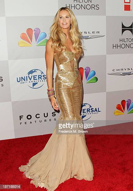 Model Elle Macpherson arrives at NBC Universal's 69th Annual Golden Globe Awards After Party at The Beverly Hilton hotel on January 15, 2012 in...