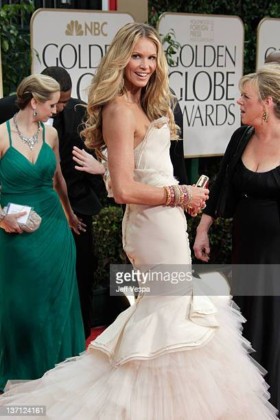 Model Elle Macpherson arrives at the 69th Annual Golden Globe Awards held at the Beverly Hilton Hotel on January 15 2012 in Beverly Hills California