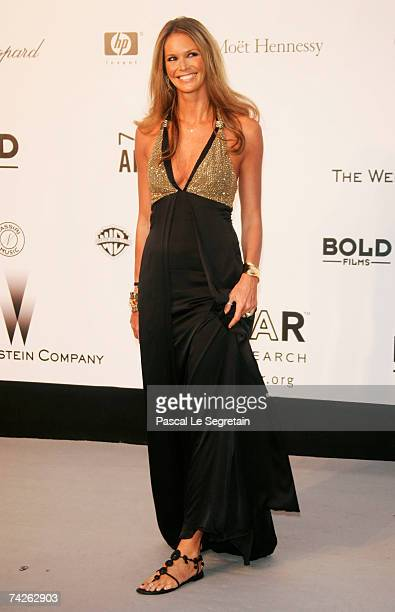 Model Elle Macpherson arrives at the Cinema Against Aids 2007 in aid of amfAR at Le Moulin de Mougins in Mougings on May 23 2007 in Cannes France The...