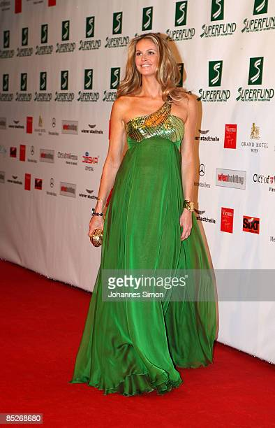 Model Elle Macpherson arrives for the Women's World Awards at Vienna Stadthalle on February 5 2009 in Vienna Austria
