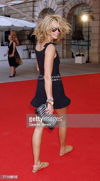 Model Elle Macpherson attends a champagne reception launching the world's oldest and largest open art competition and exhibition at the Royal Academy...