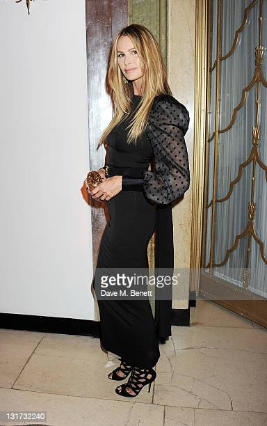 Model Elle Macpherson attends the Harper's Bazaar Women Of The Year Awards in association with Estee Lauder and NETAPORTER at Claridges Hotel on...