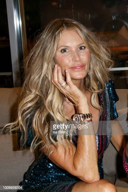 Model Elle Macpherson during the Remus Lifestyle Night on August 2, 2018 in Palma de Mallorca, Spain.