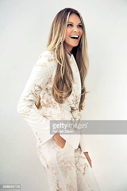 Model Elle Macpherson is photographed for Ocean Drive Magazine on September 4 2014 in Miami Florida