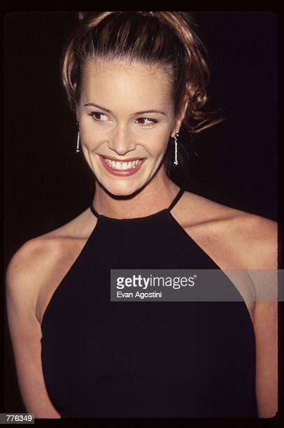 Model Elle MacPherson stands at the premiere of the film 'The Mirror Has Two Faces' November 10 1996 in New York City The film stars Barbra Streisand...
