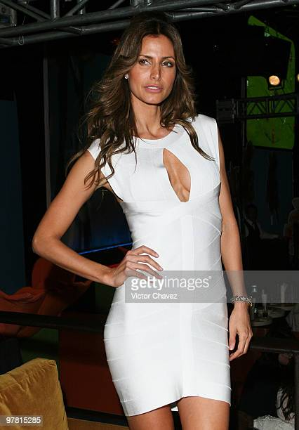 Model Elsa Benitez attends the Sears Color Parade Spring/Summer 2010 party at Ragga Club Antara on March 17 2010 in Mexico City Mexico