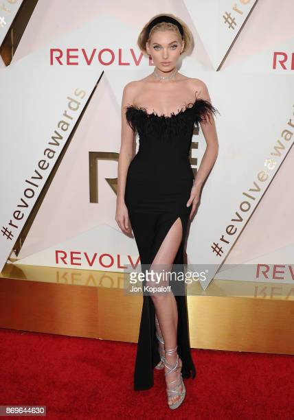Model Elsa Hosk arrives at #REVOLVEawards at DREAM Hollywood on November 2 2017 in Hollywood California