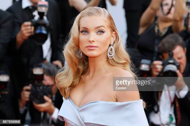 Model Elsa Hosk attends attends the 'The Beguiled' screening during the 70th annual Cannes Film Festival at Palais des Festivals on May 24 2017 in...