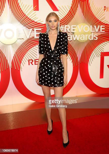 Model Elsa Hosk attends Revolve's second annual #REVOLVEawards at Palms Casino Resort on November 9 2018 in Las Vegas Nevada
