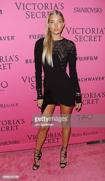 Model Elsa Hosk attends the 2015 Victoria's Secret Fashion Show after party at TAO Downtown on November 10 2015 in New York City
