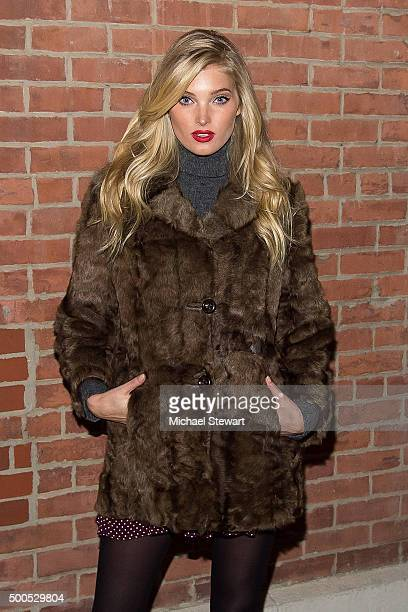 Model Elsa Hosk attends the 2015 Victoria's Secret Fashion Show viewing party at Highline Stages on December 8 2015 in New York City